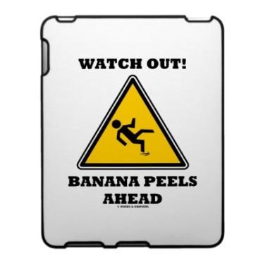 banana peel warning