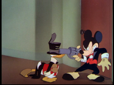 Mickey Mouse with gun