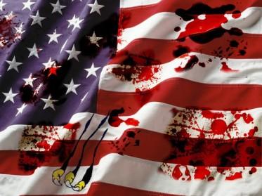 bloody flag